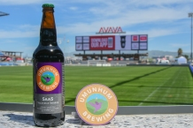 Umunhum Brewing's Skas at Avaya Stadium during the Bacon and Beer Classic