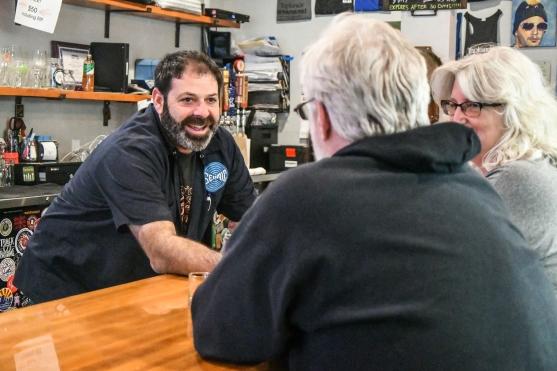 Matt talking to a couple of customers from Pennsylvania