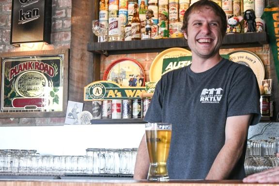 Old Kan bartender Sam Zentner