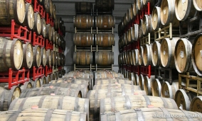 Hermitage has about 800 wine/spirit barrels for the barrel-aging program