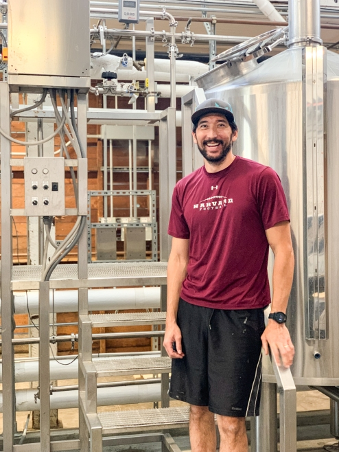 Brian Edwards, co-owner and head brewer at Hapa's Brewing -photo courtesy of Hapa's Brewing