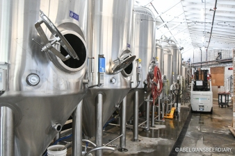 The brewery at Hapa's Brewing