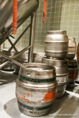Cask kegs ready to be filled at ThirstyBear Organic Brewery