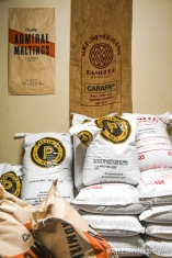 Some of ThirstyBear Organic Brewery's organic malt choices