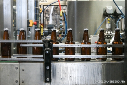 The bottling line, which can bottle up to 200 bottles a minute