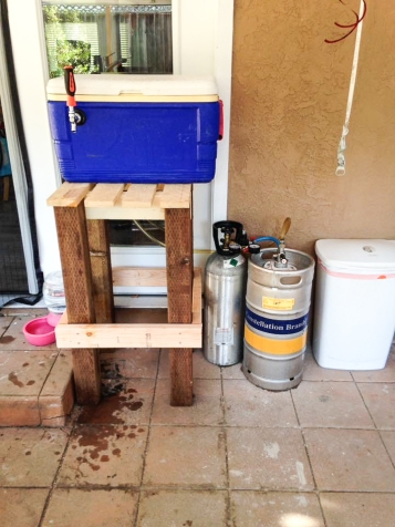 The famous jockey box from Lannie's daughter's birthday party - the jockey box that started it all! - - photo courtesy of Bay Boys Brewing