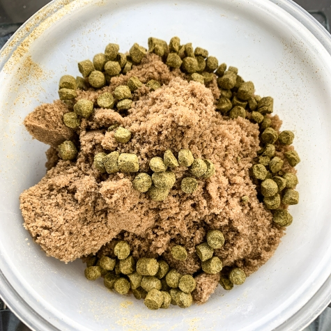 Brown sugar/ hop mix they use in their Bay Water Hazy IPA - photo courtesy of Bay Boys Brewing