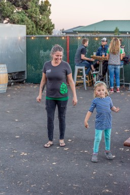 Craft Kitchen & Brewery Owner Courtney Stevens with her daughter