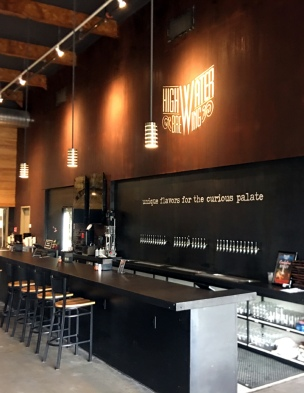 The taproom at High Water Brewing -photo courtesy of High Water Brewing