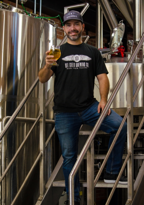 Owner and Brewer Luis Castro -photo courtesy of Del Cielo Brewing