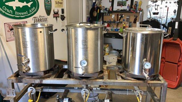 Half-barrel brew rig -photo courtesy of Jared Gill