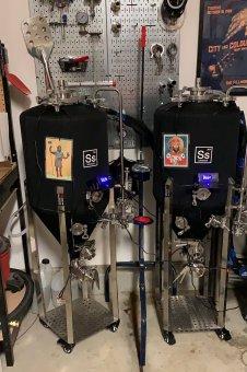 Half-barrel fermenters -photo courtesy of Jared Gill